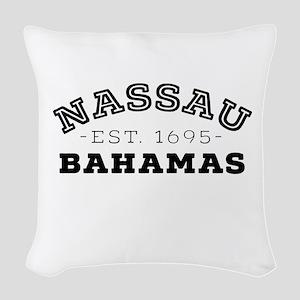 Nassau Bahamas Woven Throw Pillow