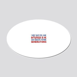 ISAVEcivilwarBATTLEFIELDS2 20x12 Oval Wall Decal