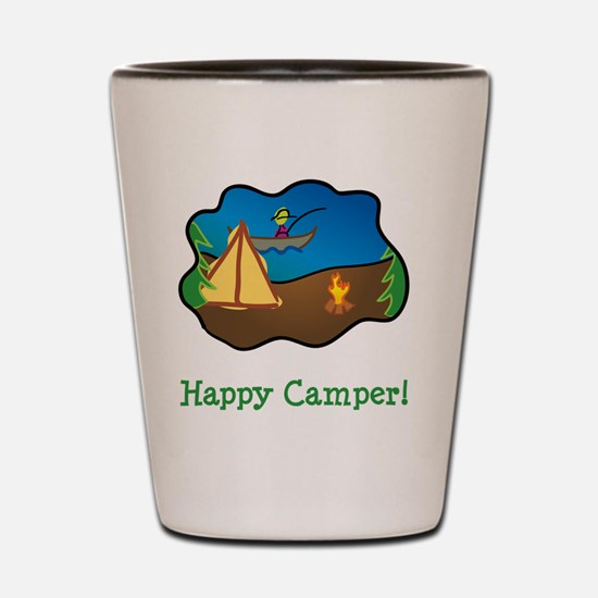 Happy Camper Green Shot Glass