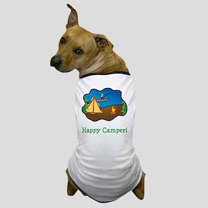 Happy Camper Green Dog T-Shirt