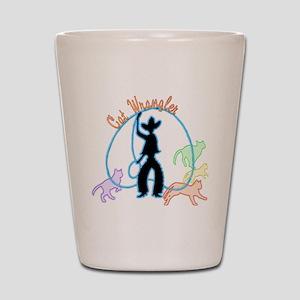 Cat Wrangler dark Shot Glass