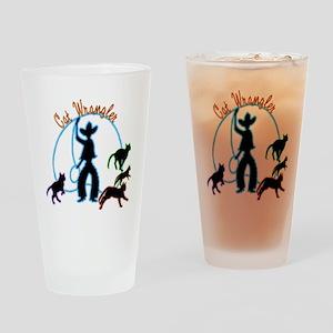 Cat Wrangler Light Drinking Glass