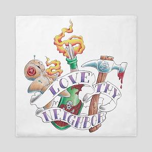 love thy neighbor2 Queen Duvet