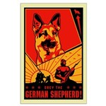 Obey the German Shepherd! Large Poster