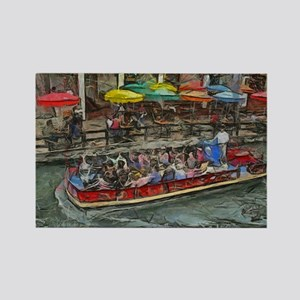 River Walk 14 x 10 Rectangle Magnet