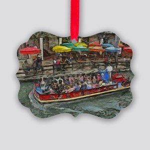 river walk 14 x 10 picture ornament - Texas Christmas Ornaments