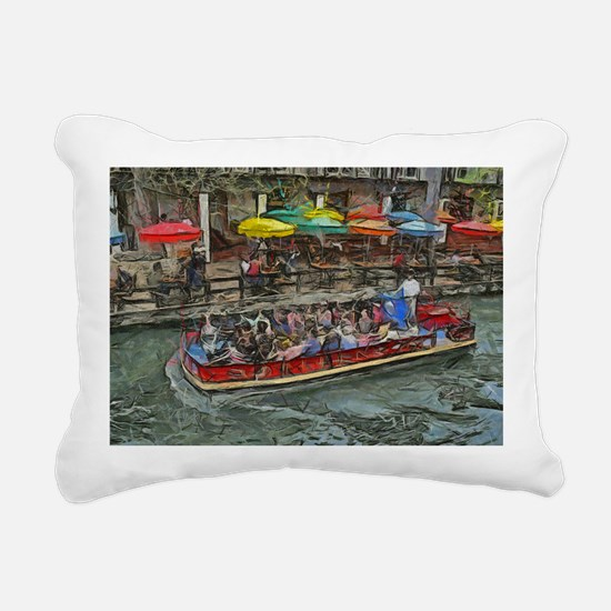 River Walk 14 x 10 Rectangular Canvas Pillow