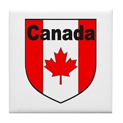Canadian Flag Shield Tile Coaster