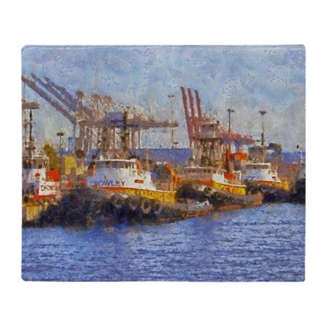 tugs 14 x 10 Throw Blanket