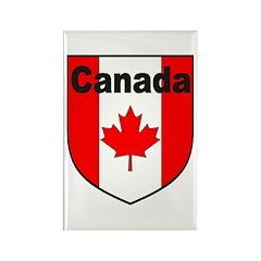 Canadian Flag Shield Rectangle Magnet (100 pack)