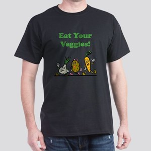 Eat Your Veggies Green Dark T-Shirt