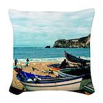 Portugal Algarve Cliffs Woven Throw Pillow