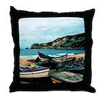 Portugal Algarve Cliffs Throw Pillow