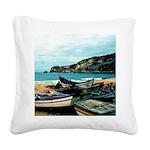 Portugal Algarve Cliffs Square Canvas Pillow