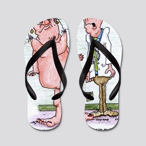 Funny Medicare Breast Enhancement Flip Flops
