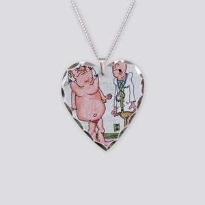 Funny Medicare Breast Enhance Necklace Heart Charm