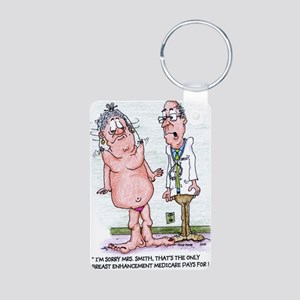 Funny Medicare Breast Enha Aluminum Photo Keychain