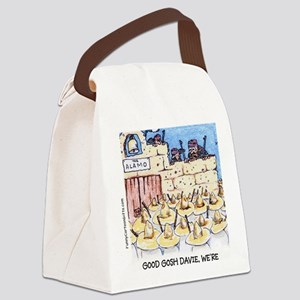 Funny Landscapers at the Alamo Canvas Lunch Bag