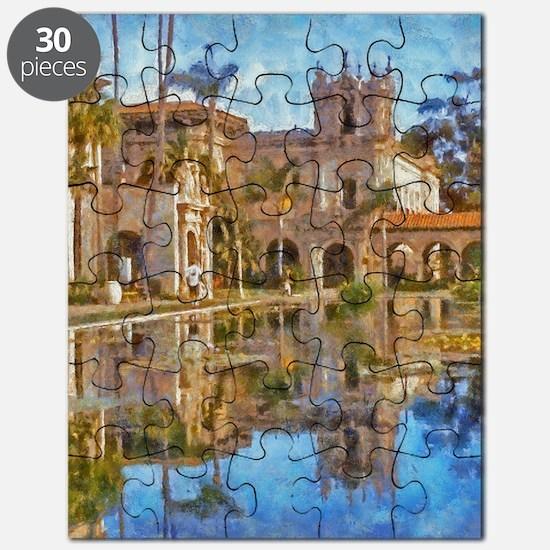 balboa park reflections 14 x 10 Puzzle