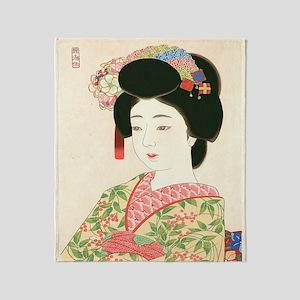 Choko Kamoshita Maiko-iPad 2-Case Throw Blanket