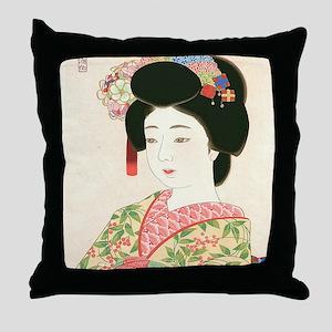 Choko Kamoshita Maiko-iPad 2-Case Throw Pillow