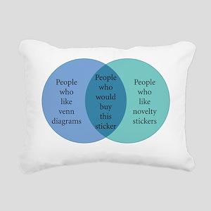 10x10_stickers_Venn  Rectangular Canvas Pillow