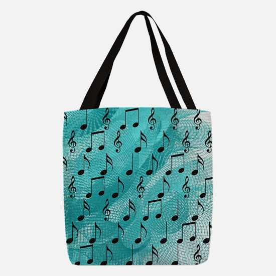 Music notes Polyester Tote Bag