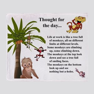 Thought for the day Throw Blanket
