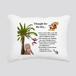 Thought for the day Rectangular Canvas Pillow