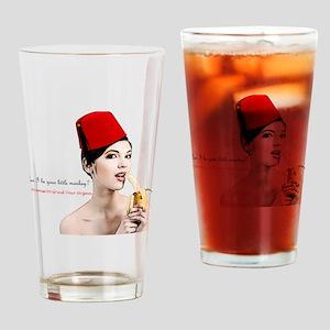 fez_girl_organ_large Drinking Glass