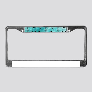 Music notes License Plate Frame