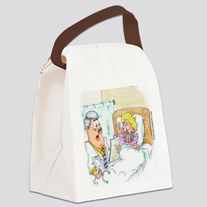 Funny Too Much Hormones Canvas Lunch Bag