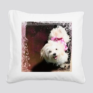 Luna-TriPodDogDesign Square Canvas Pillow