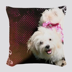 Luna-TriPodDogDesign Woven Throw Pillow