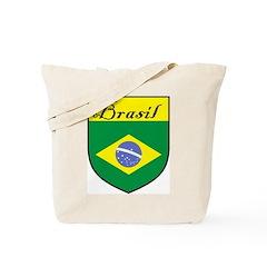 Brasil Flag Crest Shield Tote Bag