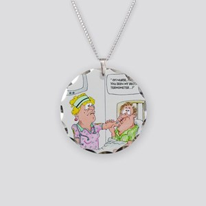 Funny Missing Rectal Thermom Necklace Circle Charm