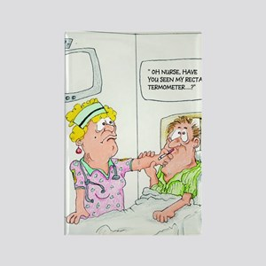 Funny Missing Rectal Thermometer Rectangle Magnet