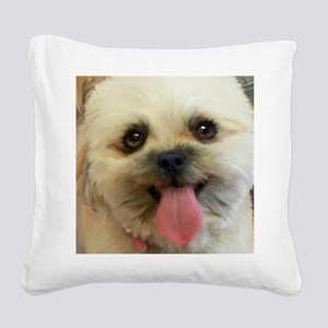 Lilly-TriPodDogDesign Square Canvas Pillow