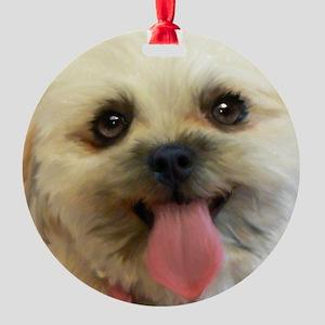 Lilly-TriPodDogDesign Round Ornament