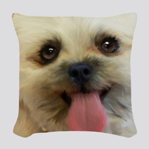 Lilly-TriPodDogDesign Woven Throw Pillow