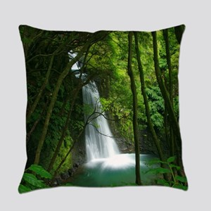 Waterfall in Azores Everyday Pillow