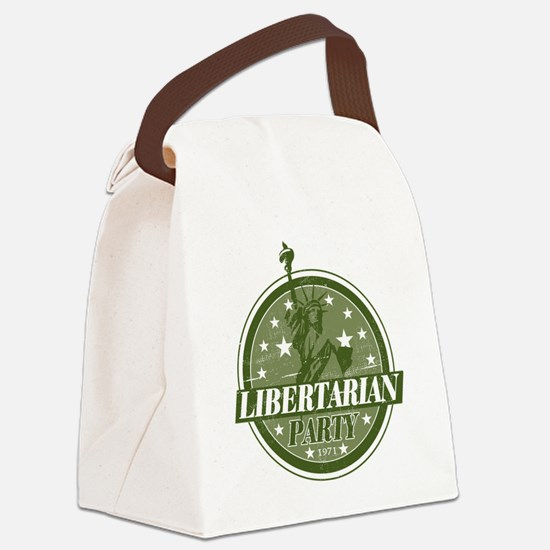Libertarian_Green Canvas Lunch Bag