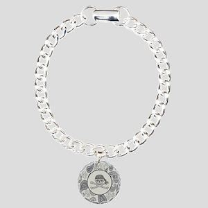 nautical pirate skull mo Charm Bracelet, One Charm