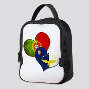 Portugal and Azores hearts Neoprene Lunch Bag