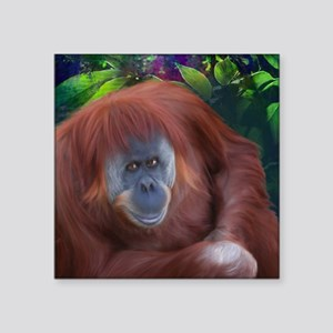 "Orangutan-TriPodDogDesign Square Sticker 3"" x 3"""
