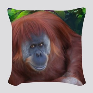 Orangutan-TriPodDogDesign Woven Throw Pillow