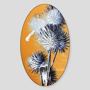 Burdocks Painting Sticker (Oval)