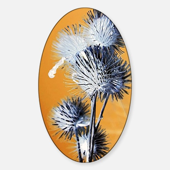 Burdocks Painting Sticker (Oval)