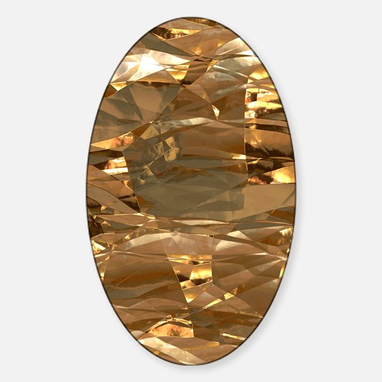 GoldFoil Sticker (Oval)
