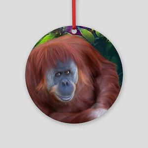 Orangutan-TriPodDogDesign Round Ornament